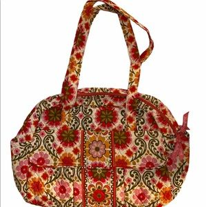 Vera Bradley FOLKLORIC Baby Bag with Diaper Pad